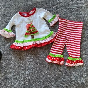 12 Month Festive Christmas Outfit